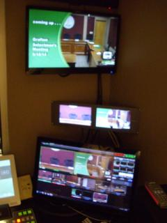 Control Booth monitors