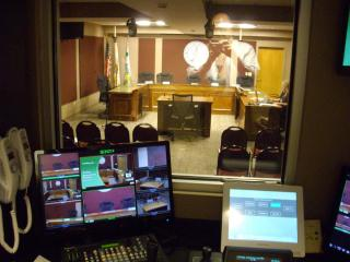 View from control booth