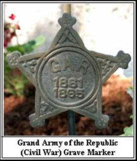 Grand Army of the Republic (Civil War) Grave Marker