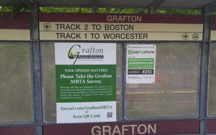 Image of survey poster at station
